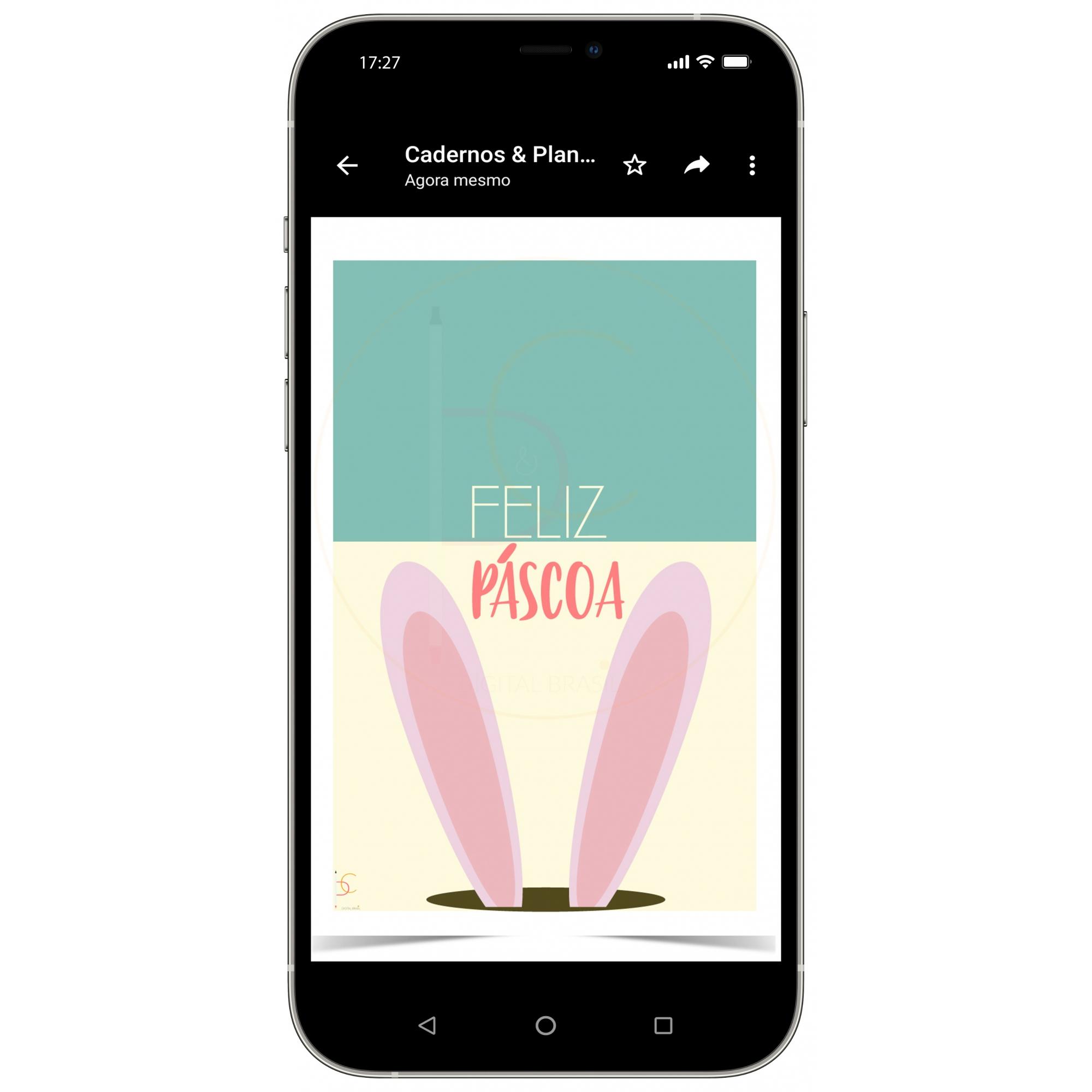 Cartão Digital Feliz Páscoa| WhatsApp | Celular, iPad, Tablet