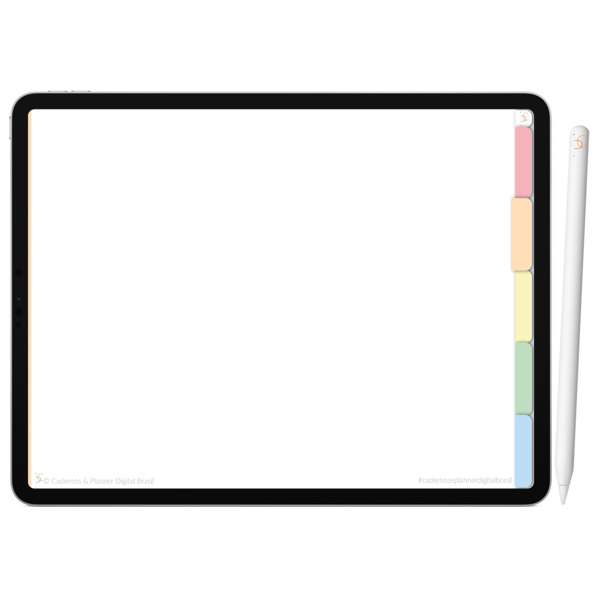 Mapa Mental Digital Rosa Arco-Íris | Cinco Matérias Interativo| iPad Tablet | Download Instantâneo