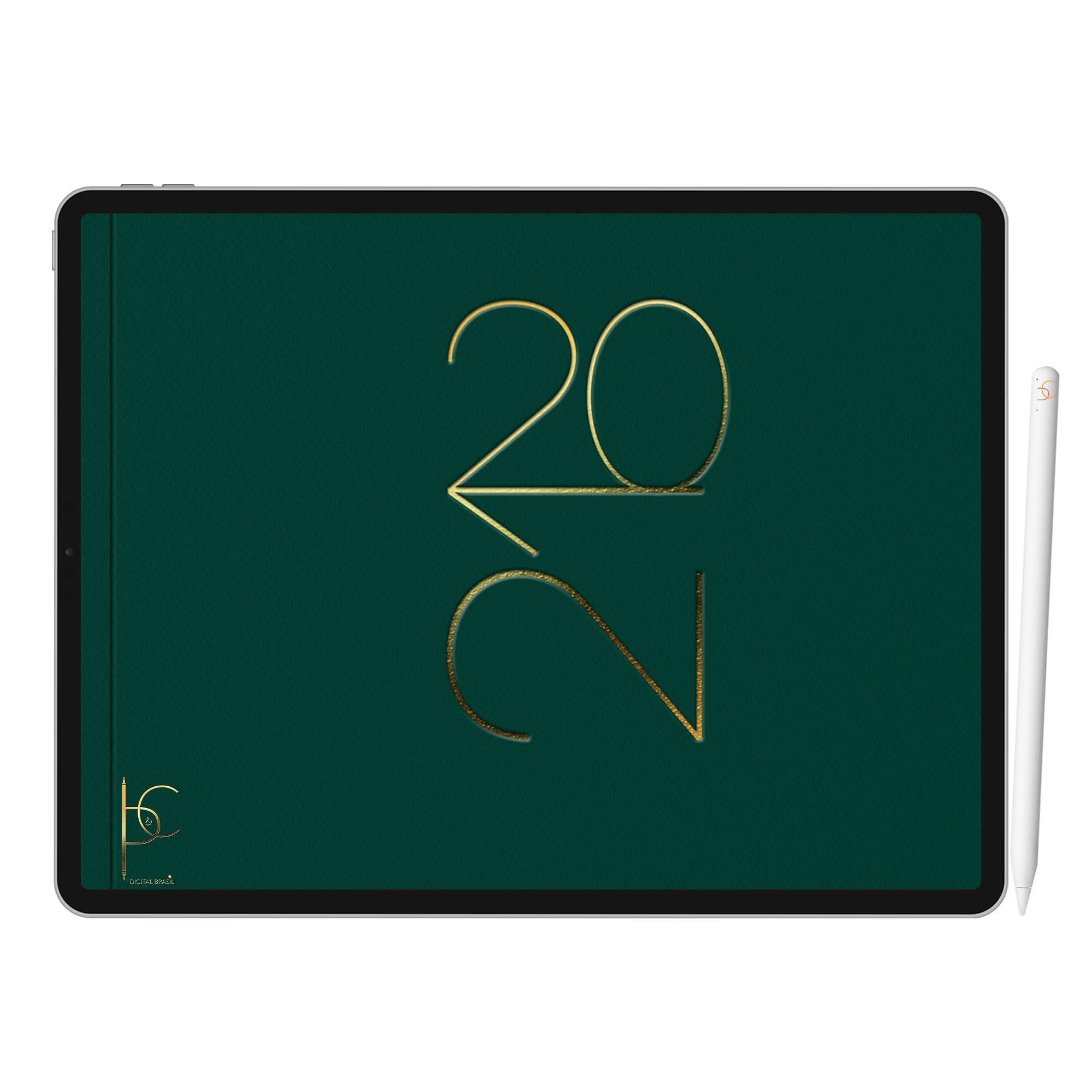 Planner Digital Anual, Mensal, Semanal, Diário | iPad Tablet | Download Instantâneo