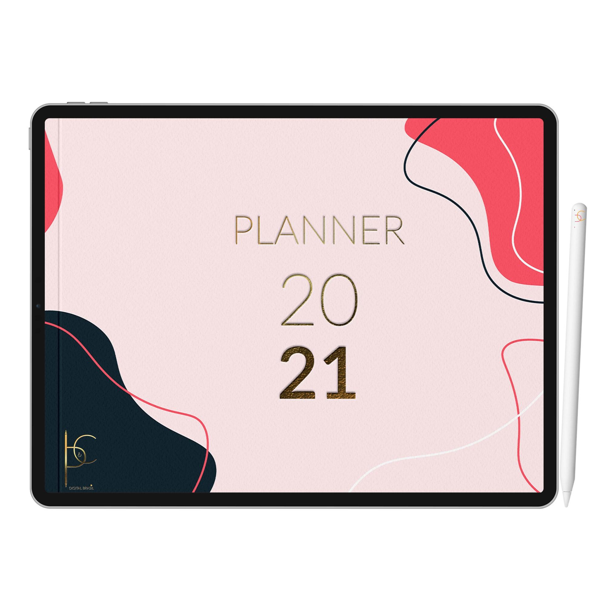 Planner Digital Rastreador de Finanças | Hábitos | SelfCare | Gratidão | iPad Tablet | Download Instantâneo