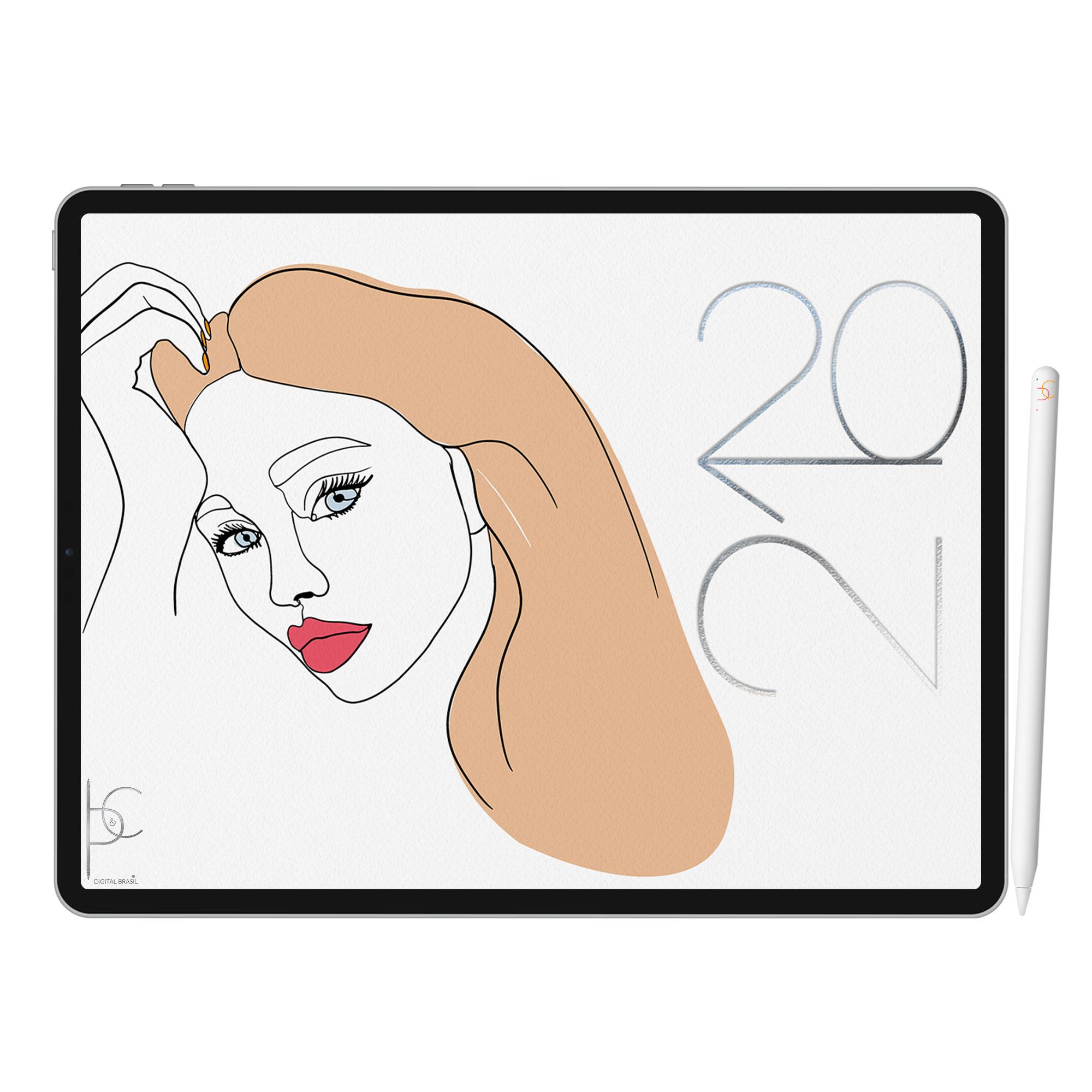 Life Planner Digital Feminine Nude | iPad Tablet | Download Instantâneo