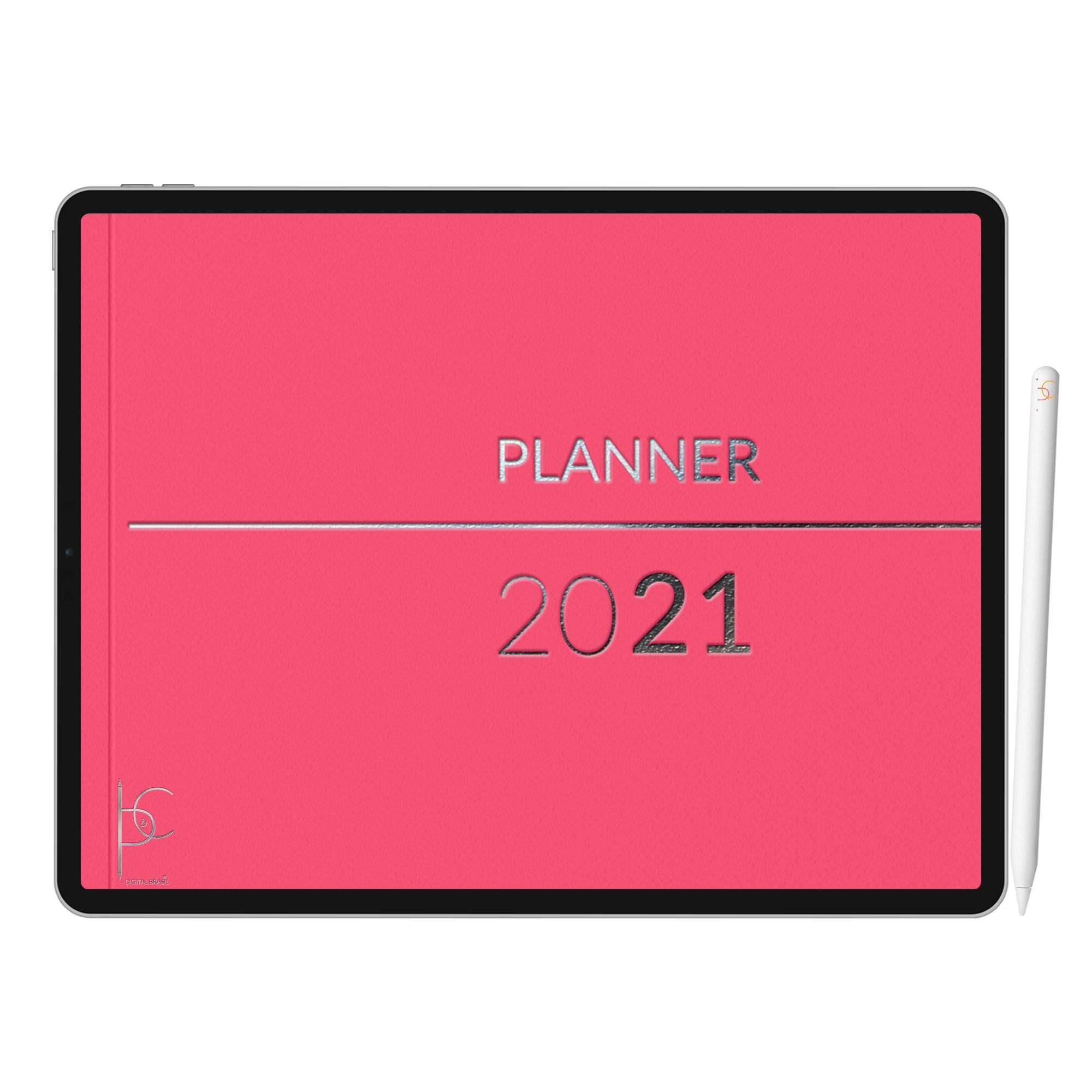 Planner Digital Diário, Semanal, Mensal, Anual | GoodNotes, Xodo, Notability | iPad Tablet | Download Instantâneo