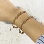 Bracelete Dourado de Bolinhas