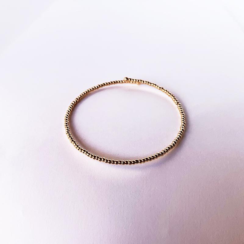 Bracelete Dourado com Bolinhas Pequenas