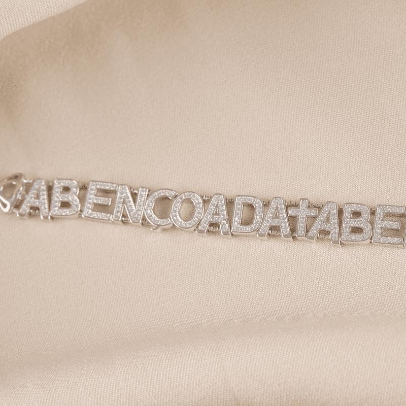 Pulseira Prata com ródio abençoada em zircônias