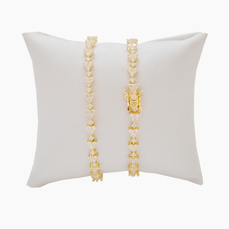 Pulseira Riviera em prata com banho amarelo e/ou ródio