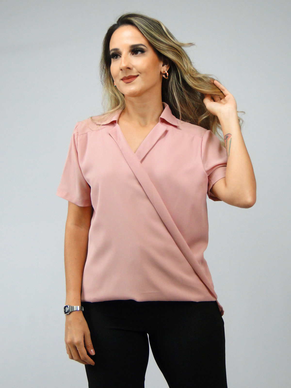 Blusa Decote Transversal