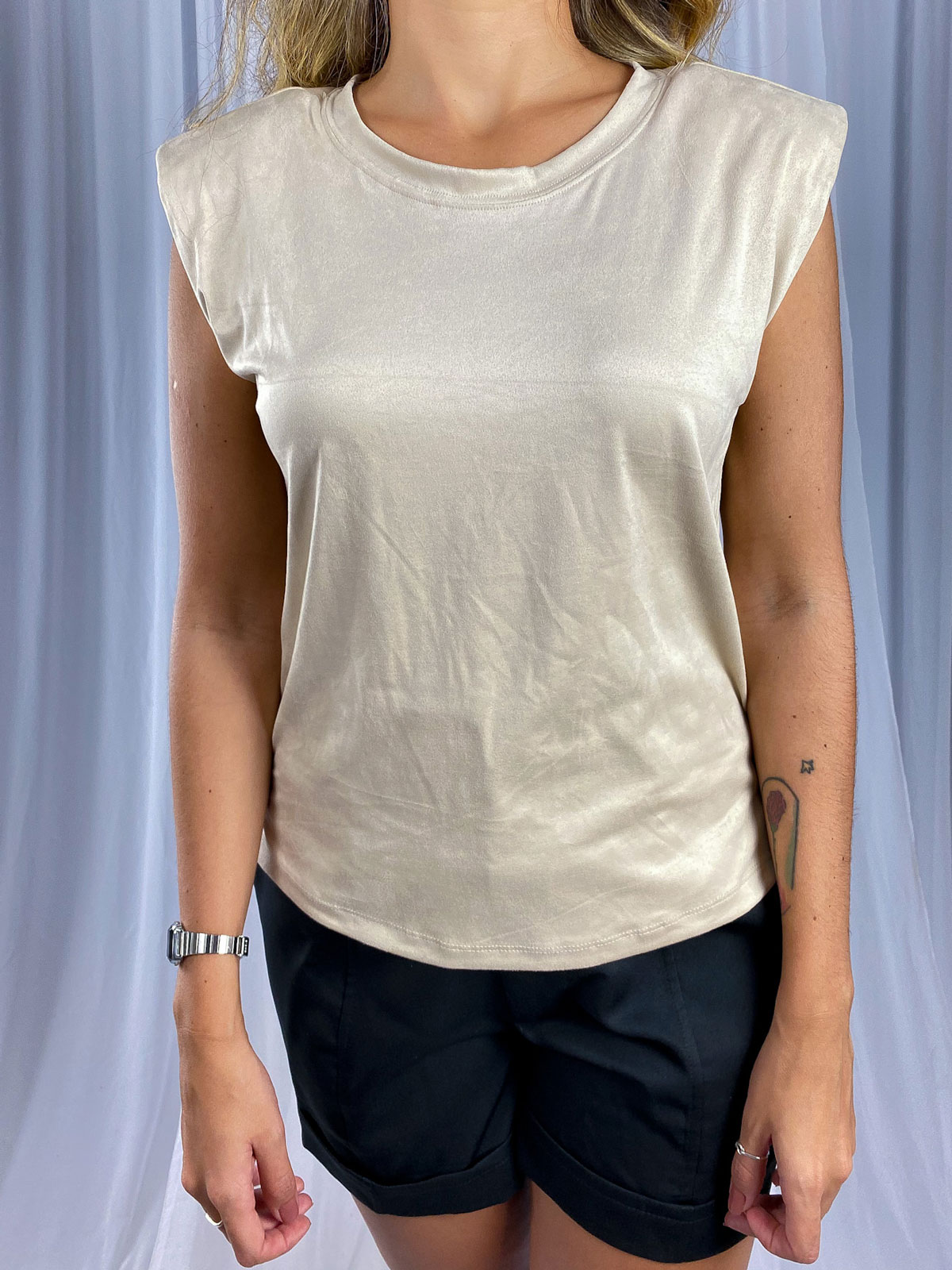 Blusa Muscle Tee Suede Ombreira