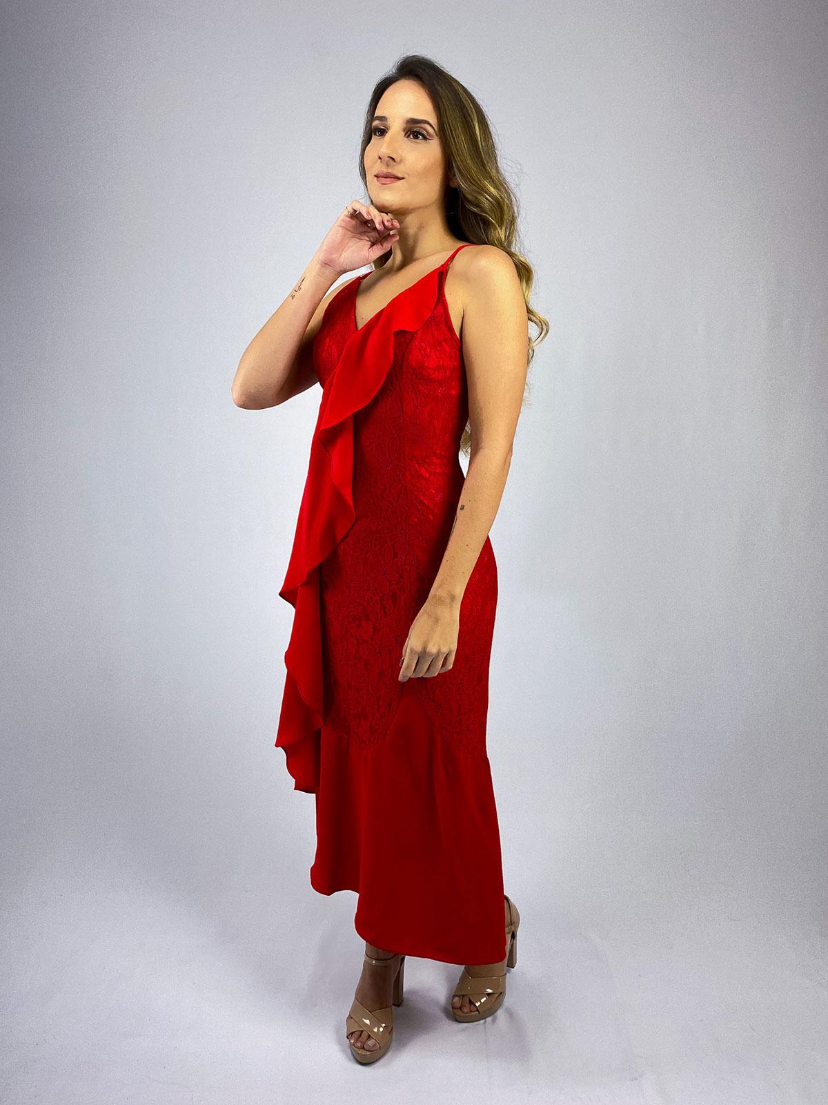 Vestido  Renda com Babado