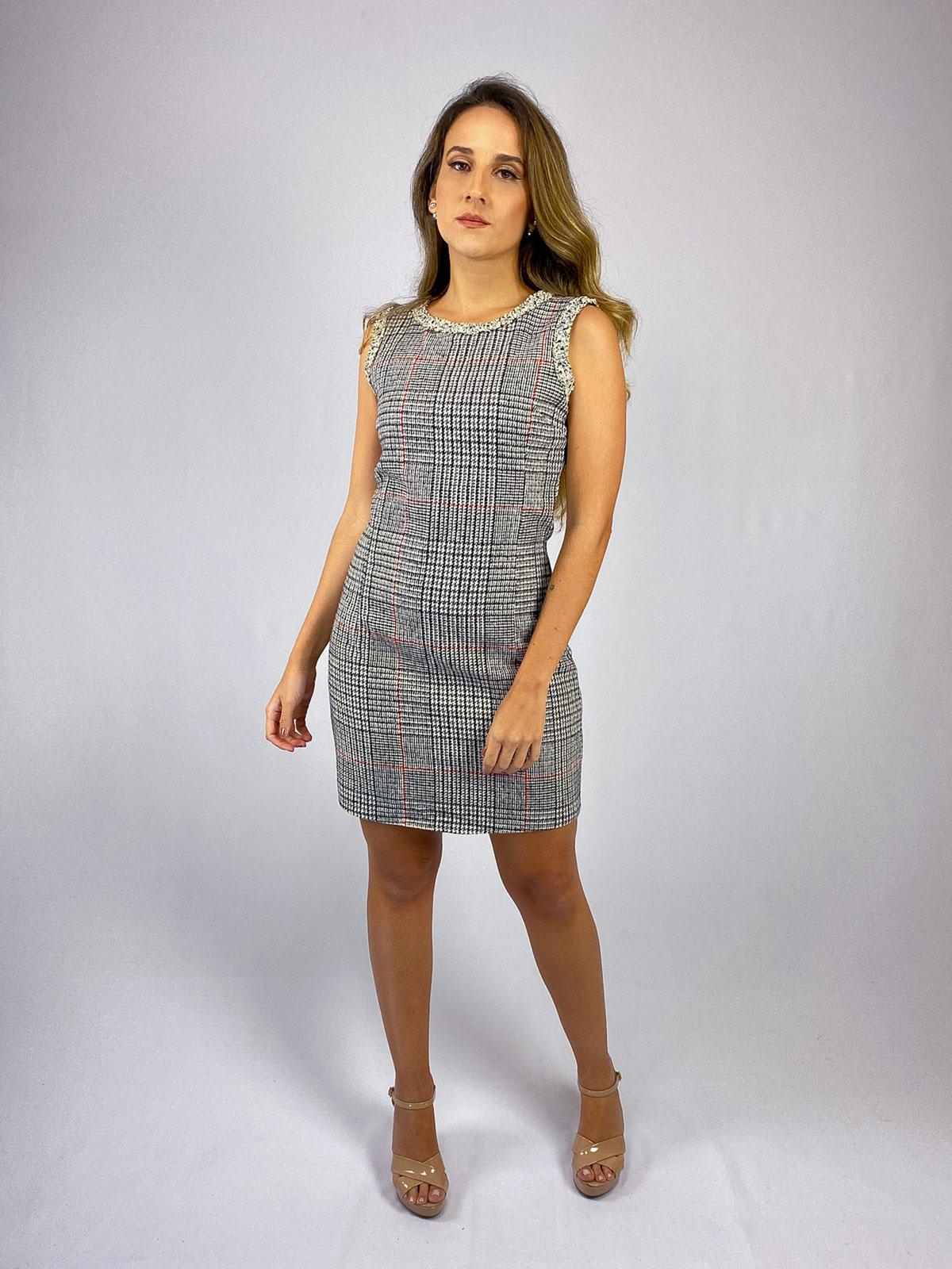 Vestido Tweed Xadrez img2