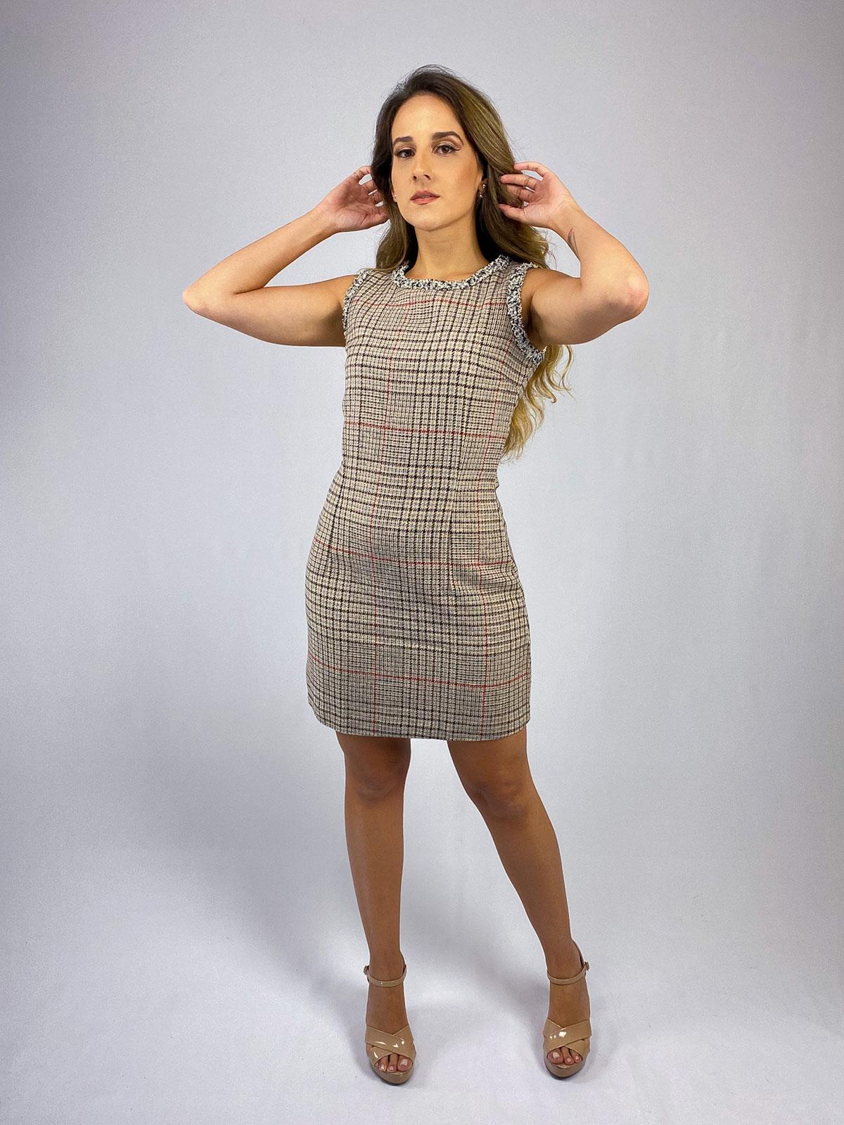 Vestido Tweed Xadrez