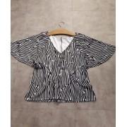 Blusa malha estruturada manga ampla