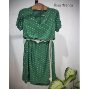 Vestido malha fluida verde poás