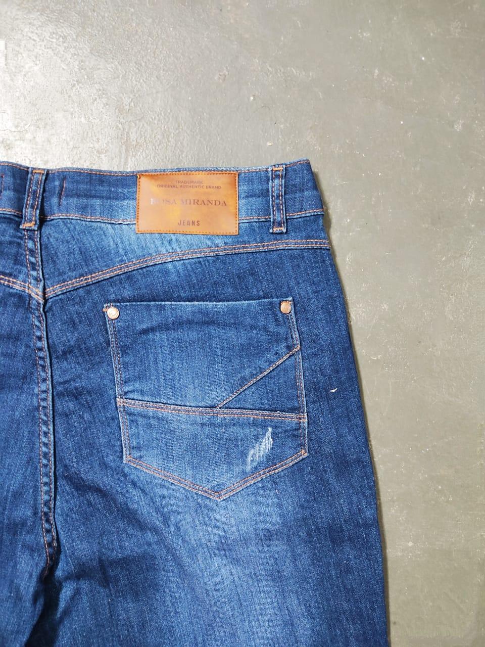 Bermuda blue jeans ciclista
