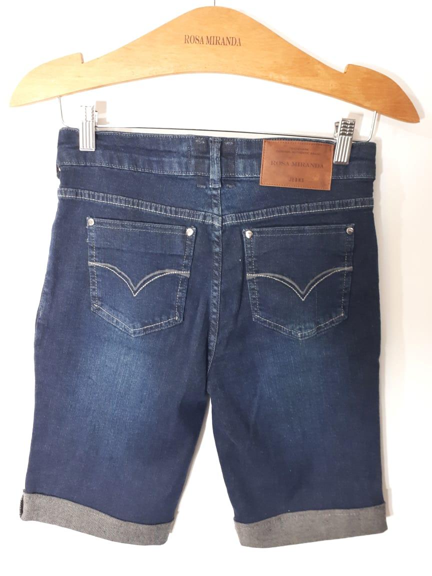 Bermuda jeans barra virada