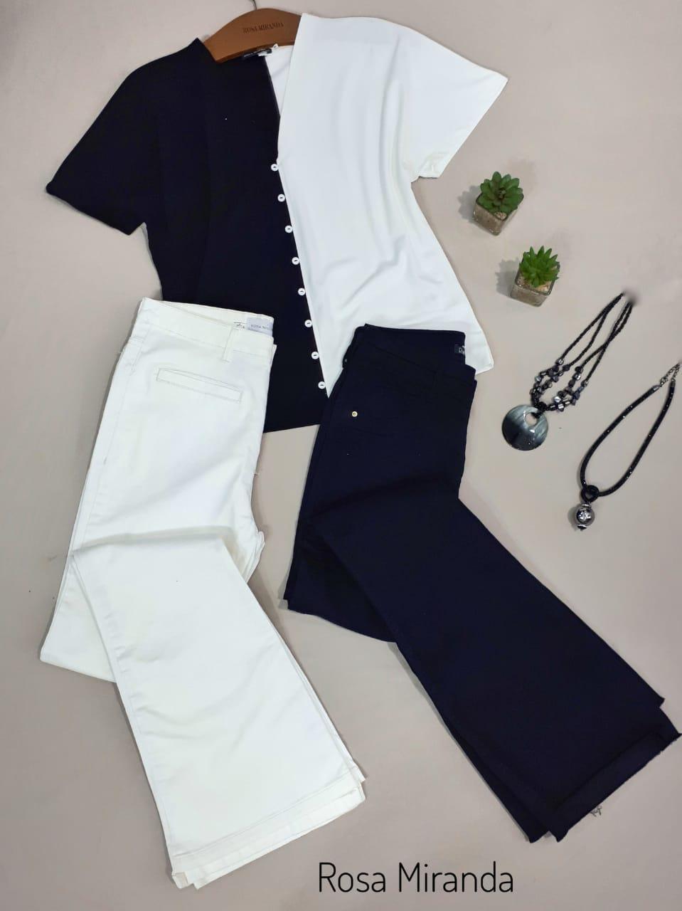 Blusa Malha bicolor