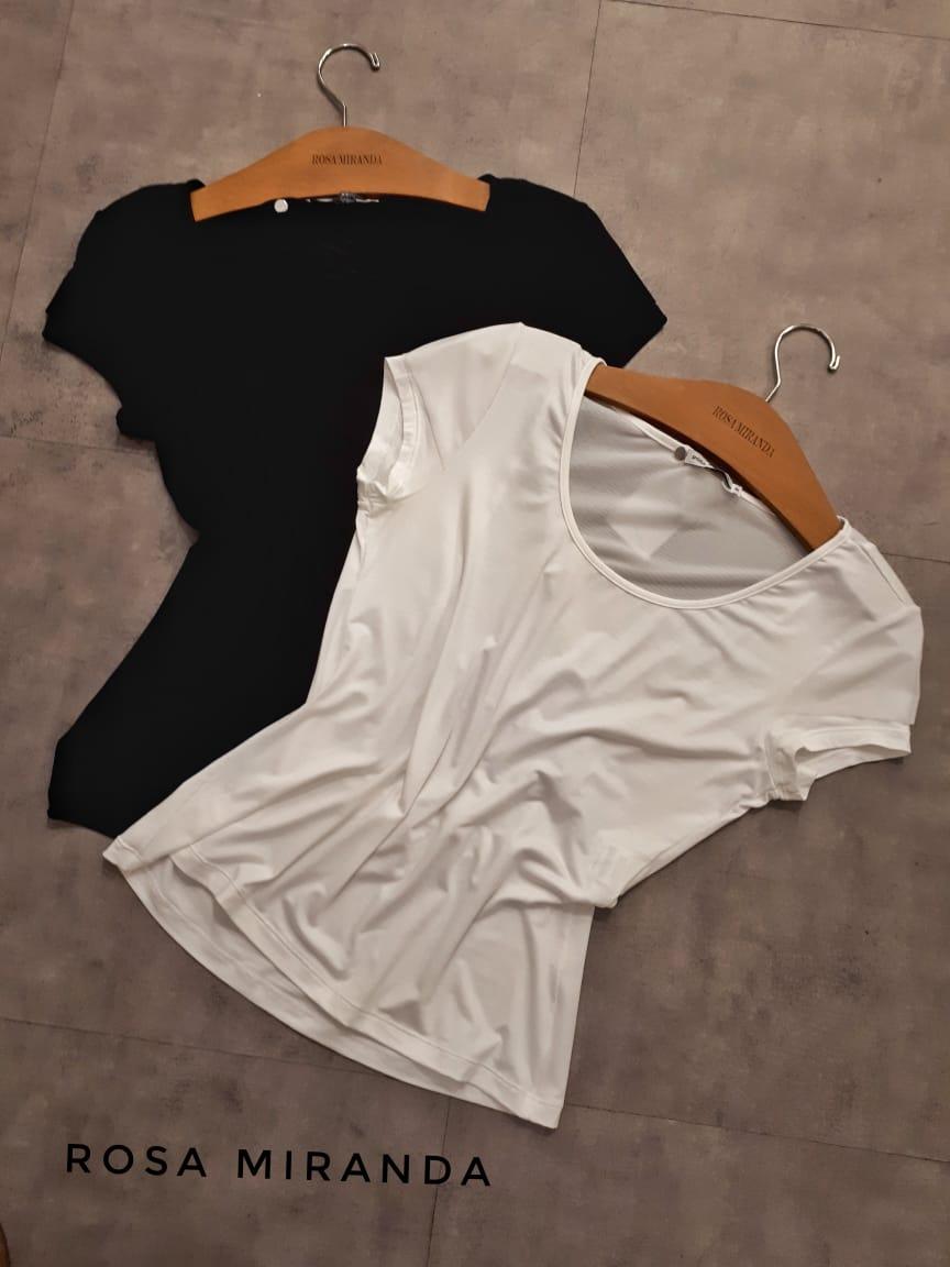 Blusa malha manga com detalhe