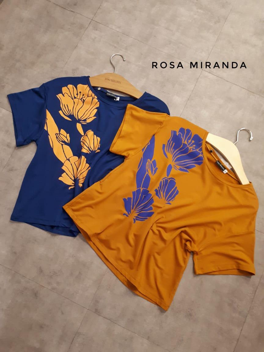 Blusa malha pesada estampa floral