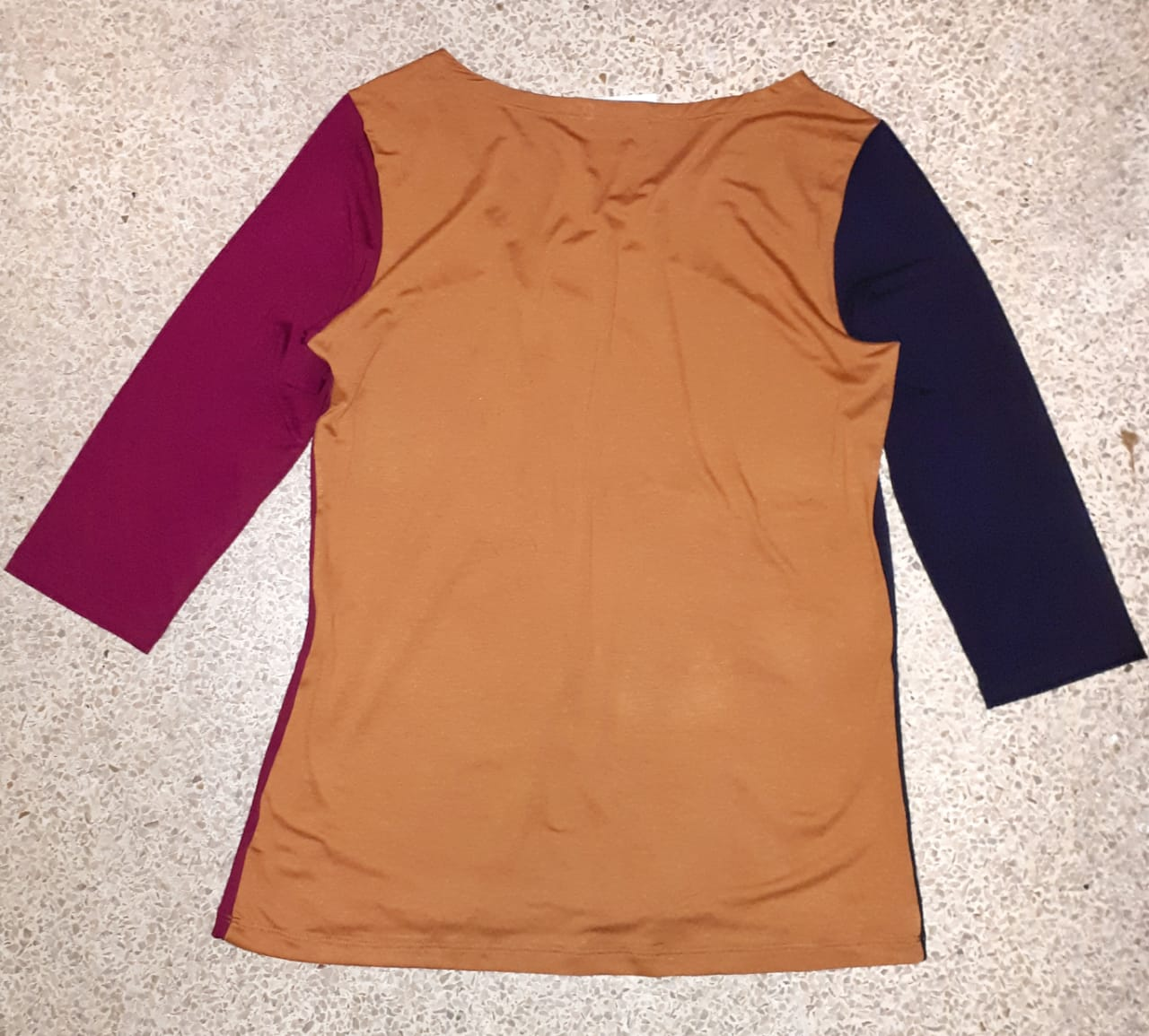Blusa malha três cores