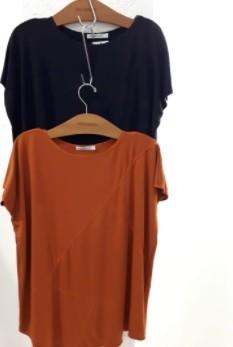 Blusa túnica moletinho com recortes