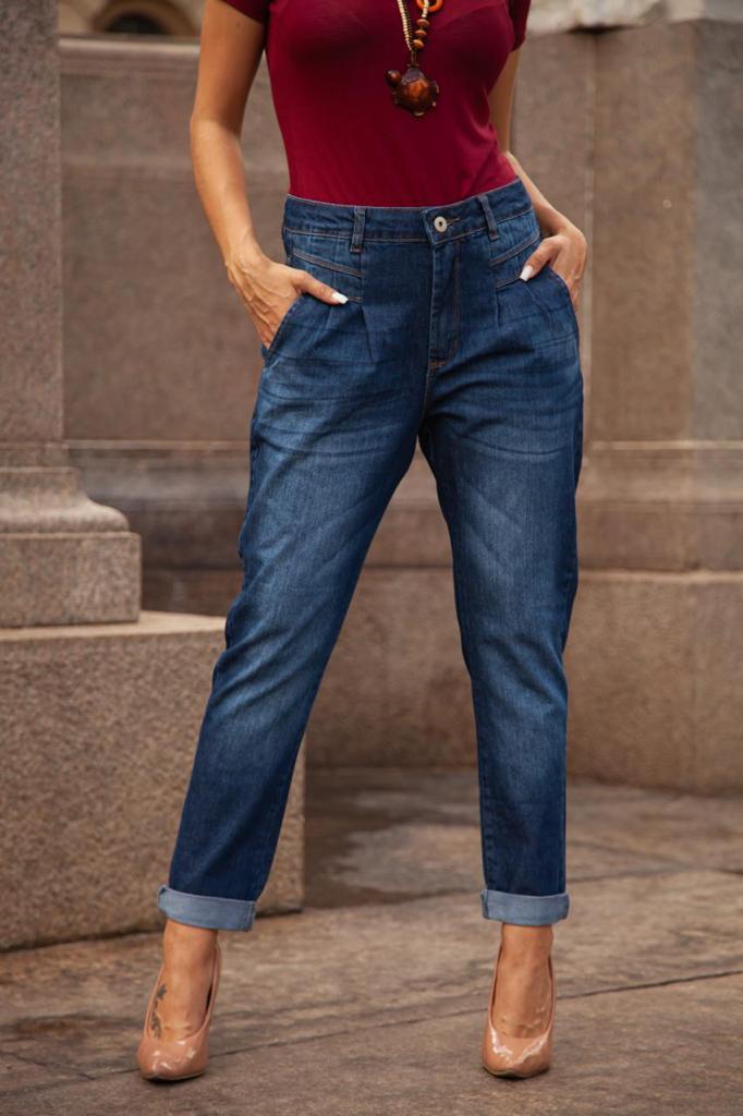 Calça Jeans Duas Barras
