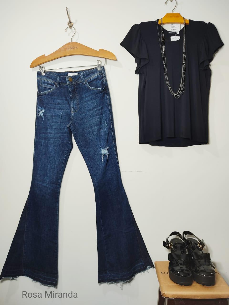 Calça Jeans nesga