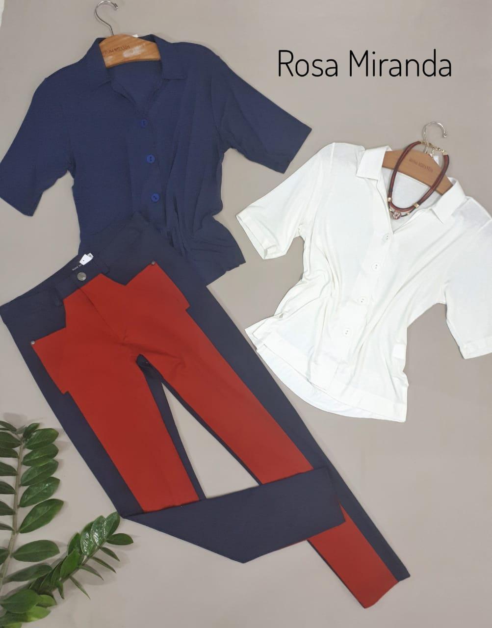 Calça malha pesada bicolor