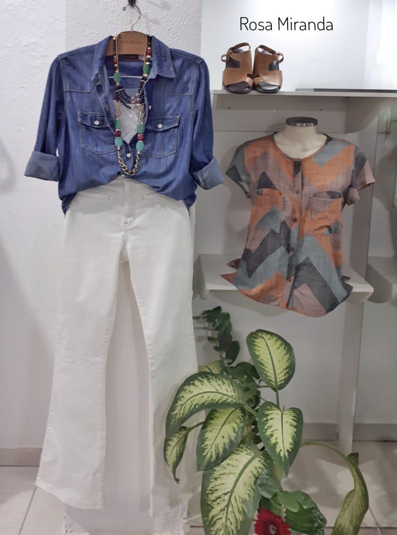 Camisa Jeans pesponto