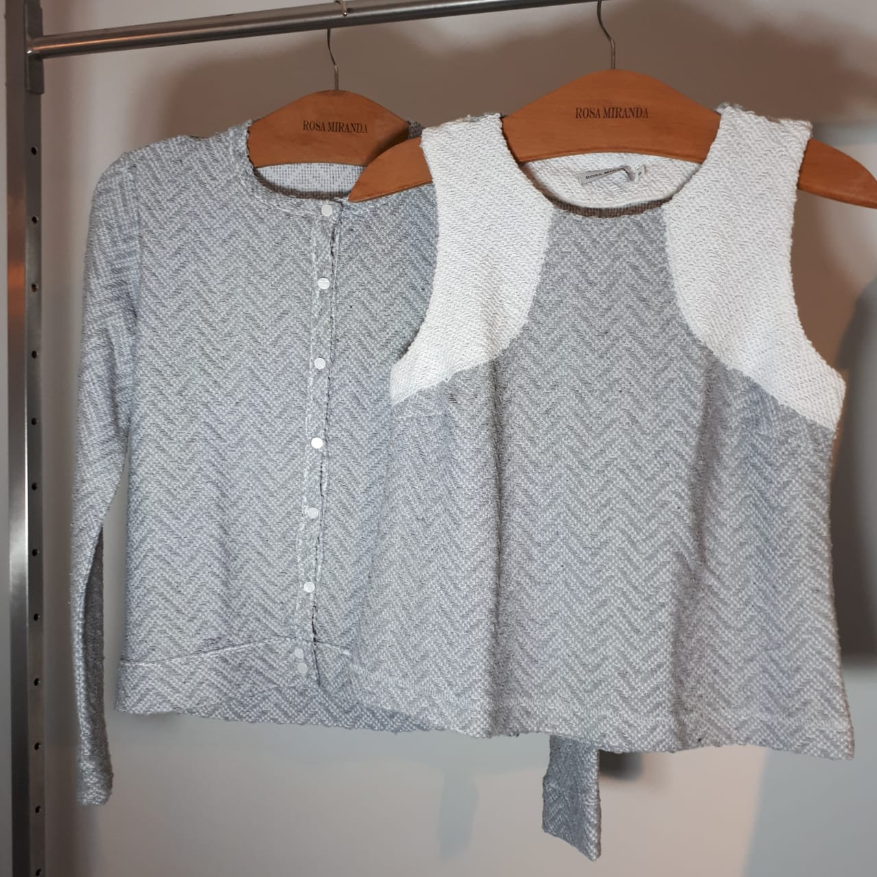 Casaco algodão tecido com  textura