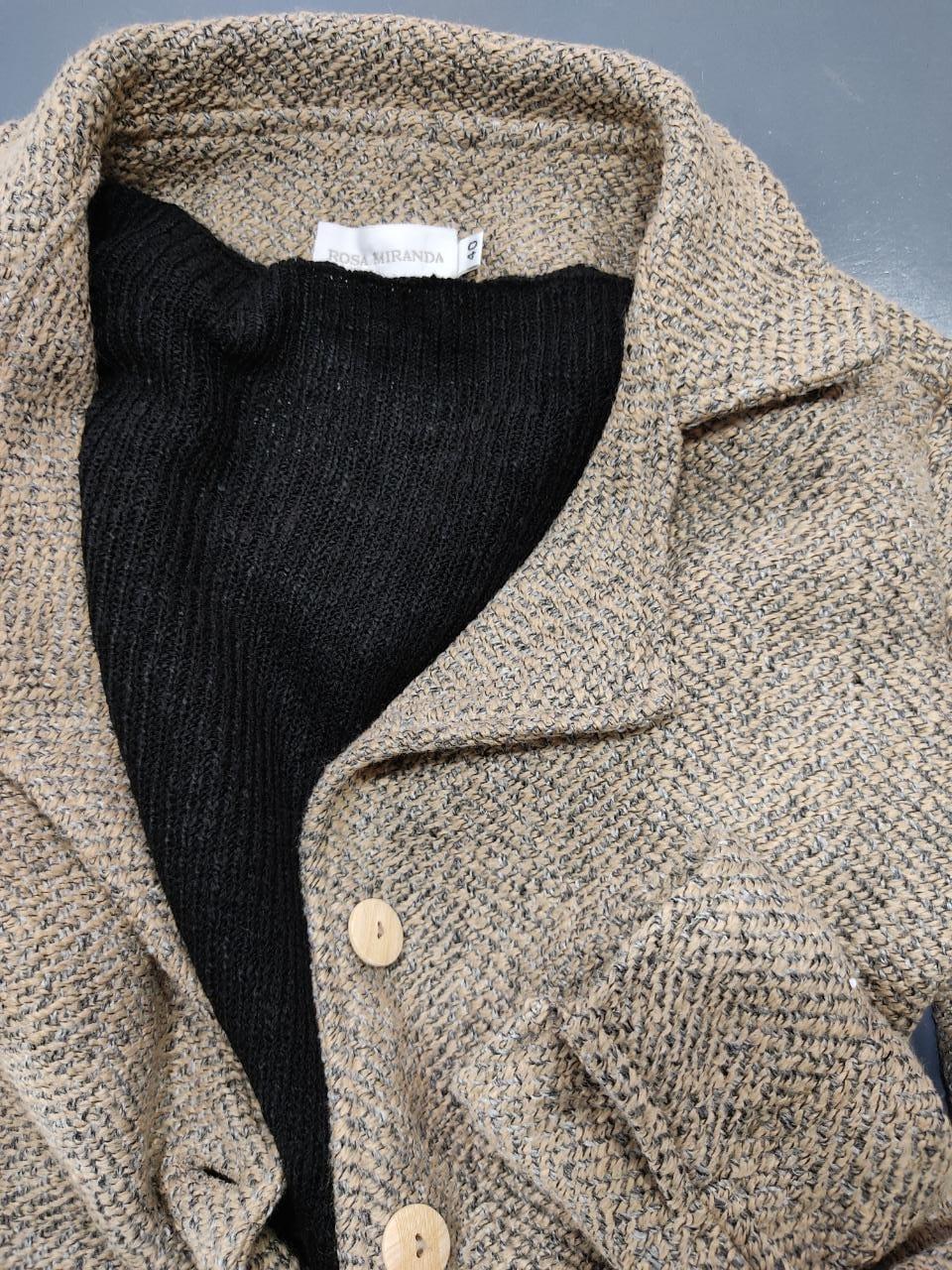 Pull tricot canelado gola baixa