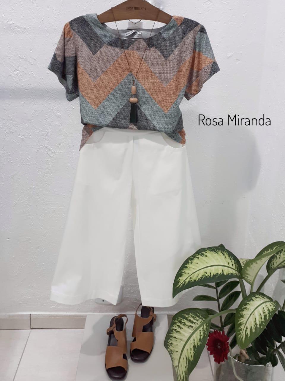 T-shirt viscose manga amarradinha
