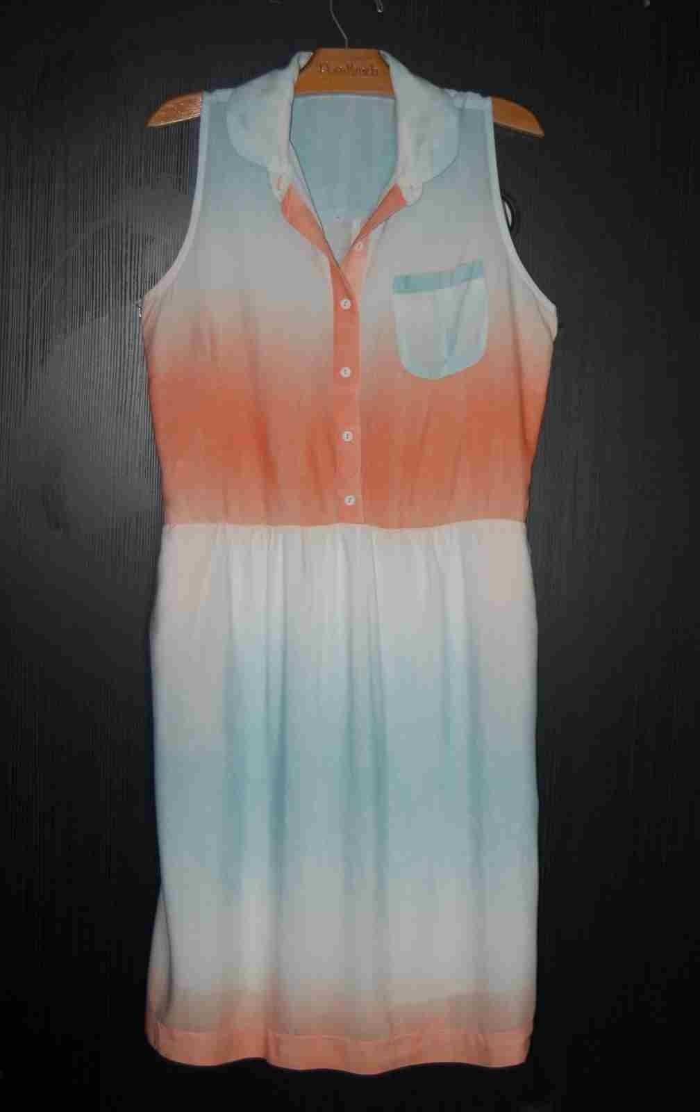 Vestido chemise tie dye
