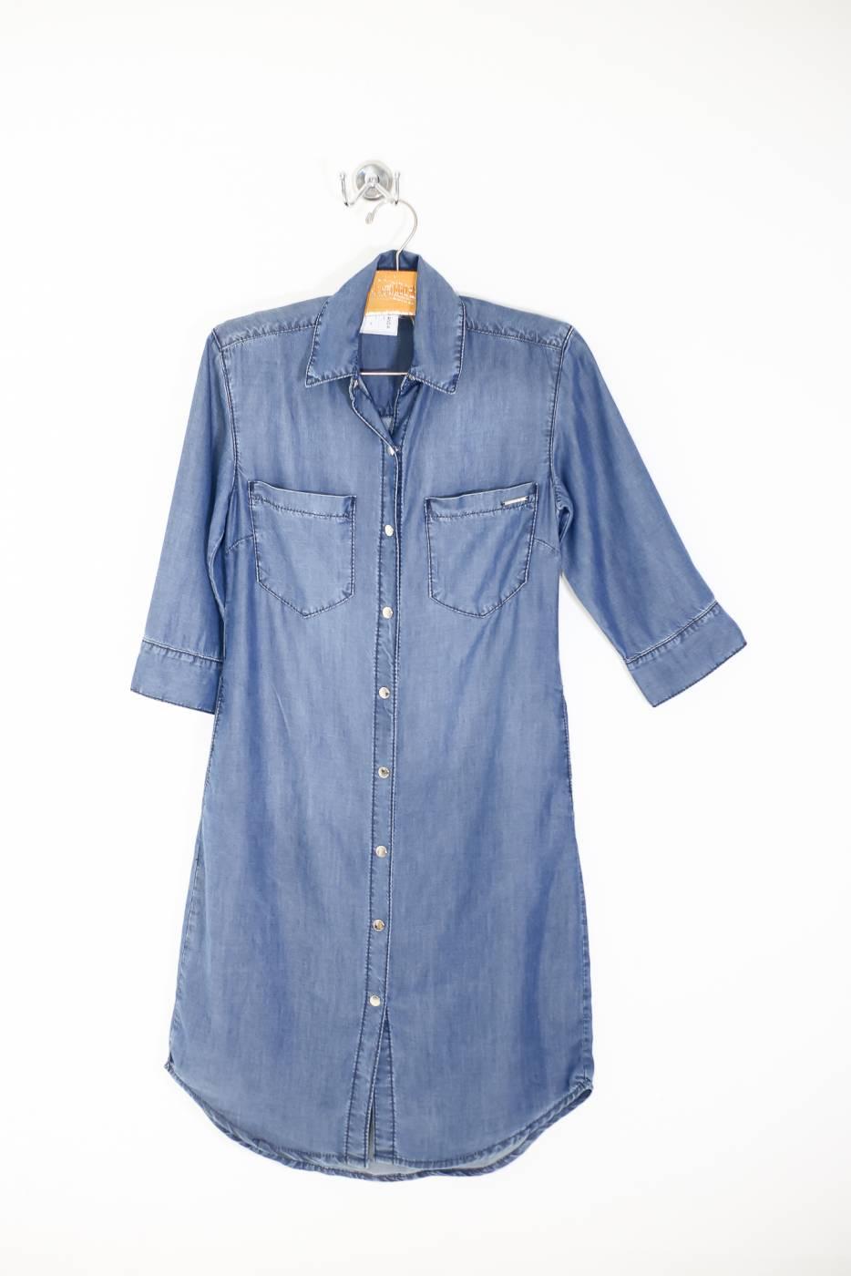 Vestido estilo chemise tencel