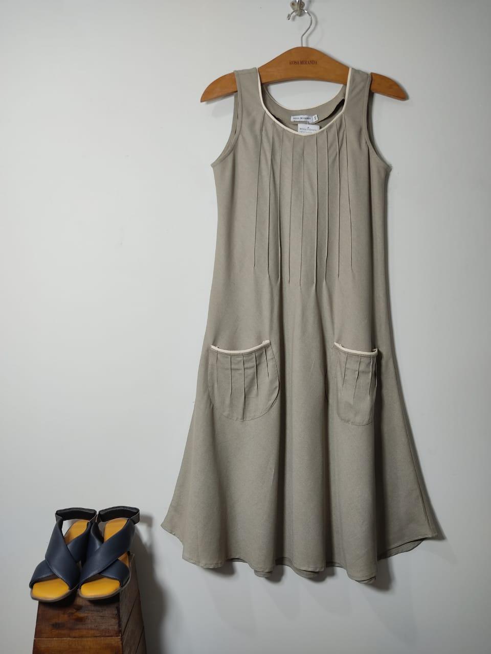 Vestido Linho Friso