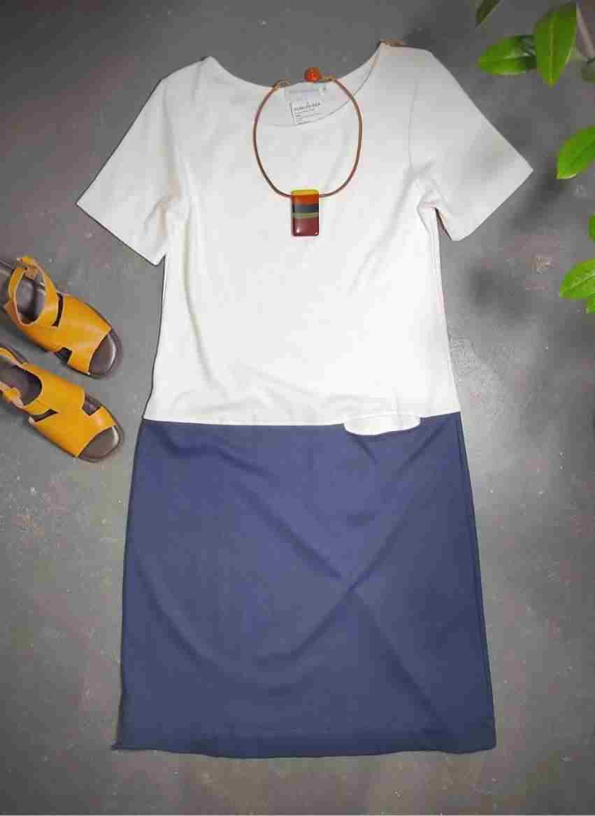 Vestido malha pesada bicolor