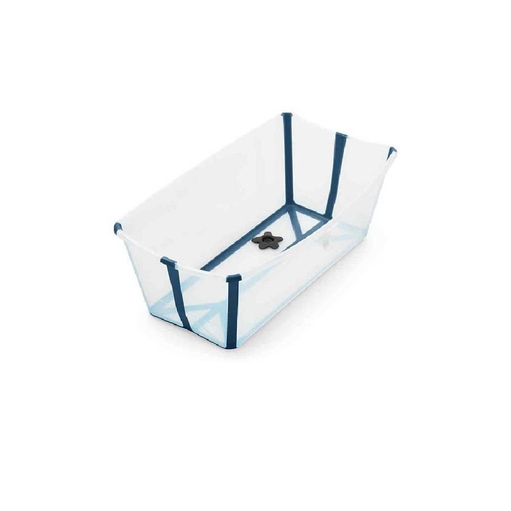 Banheira Flexível Azul com Plug Térmico Stokke