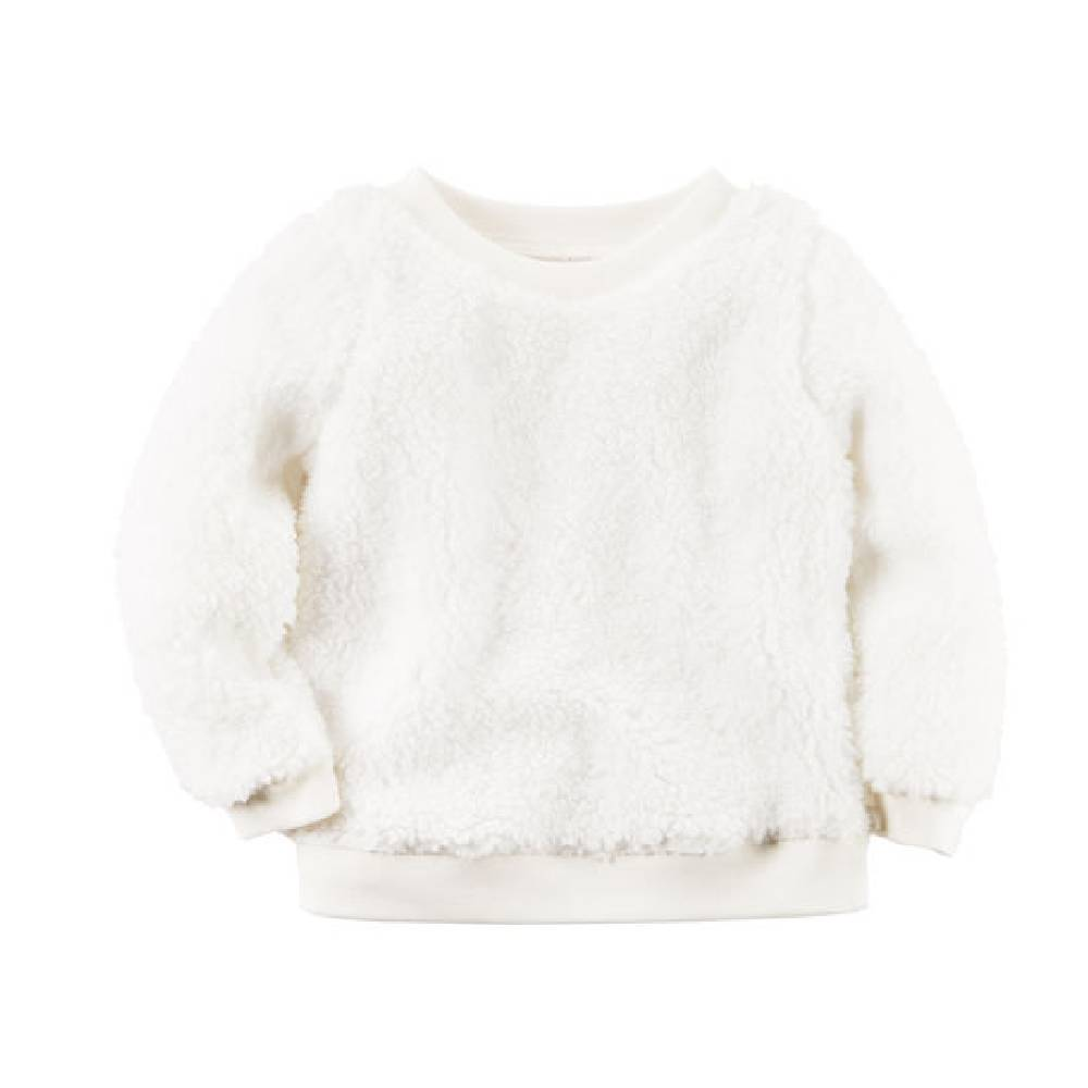 Blusa Sherpa Branca Carter´s - Tamanho 4