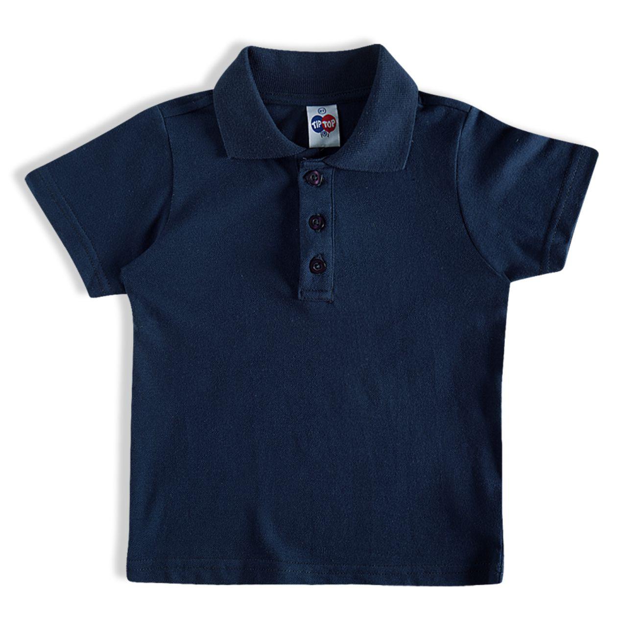 Camiseta Azul Marinho com Gola Polo/Tam:1t/TipTop