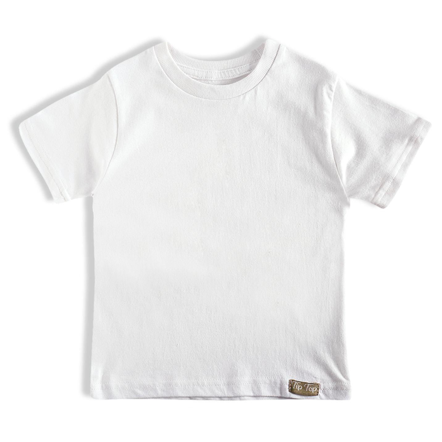 Camiseta Manga Curta Branca/Tam:1t/TipTop