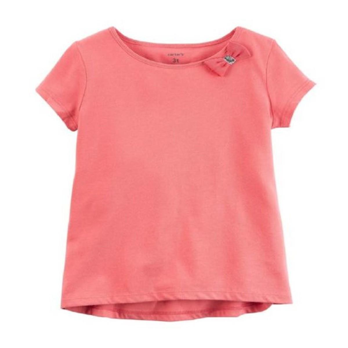 Camiseta Manga Curta Rosa Carter´s- Tamanho 3t