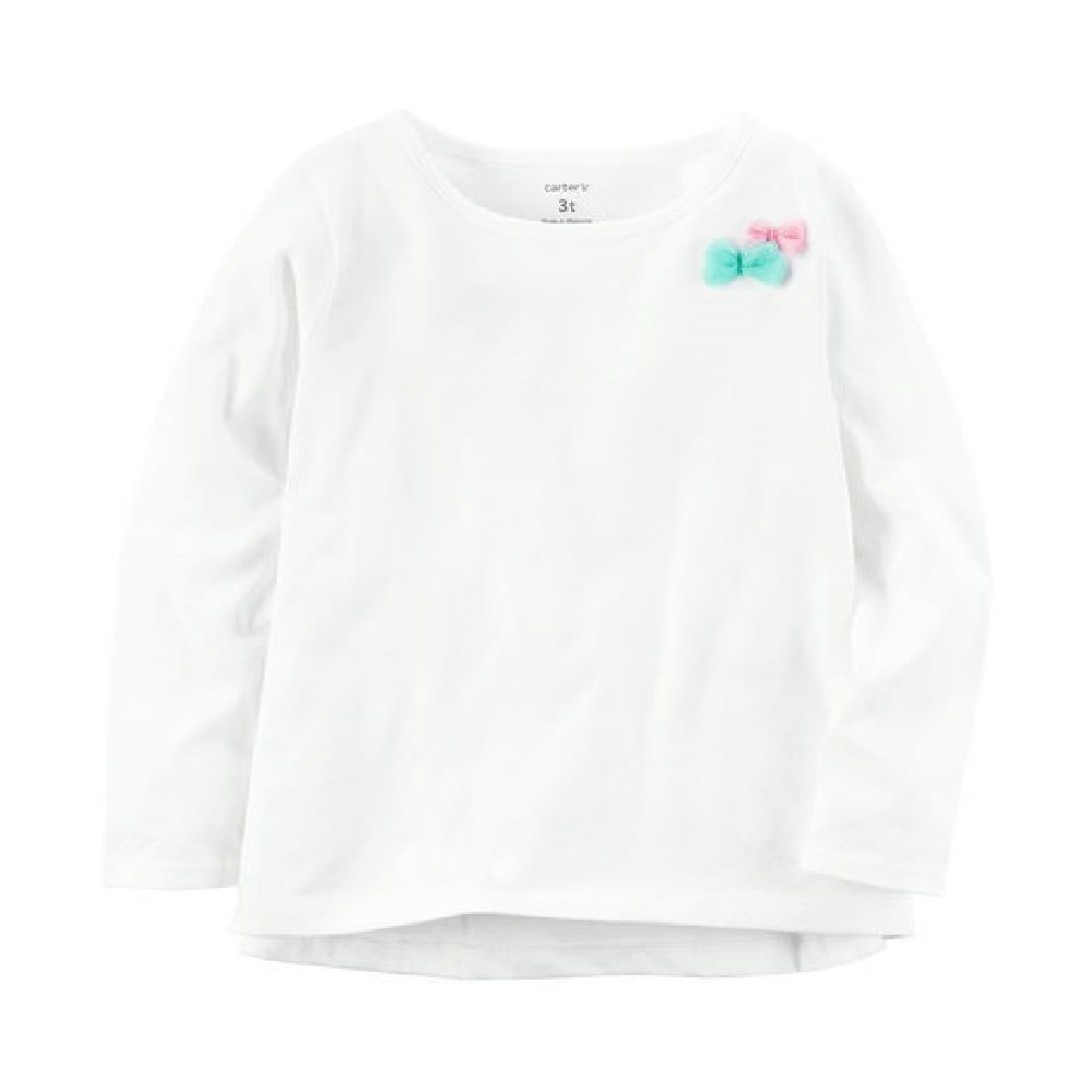 Camiseta Manga Longa Branca Carter´s- Tamanho 2t