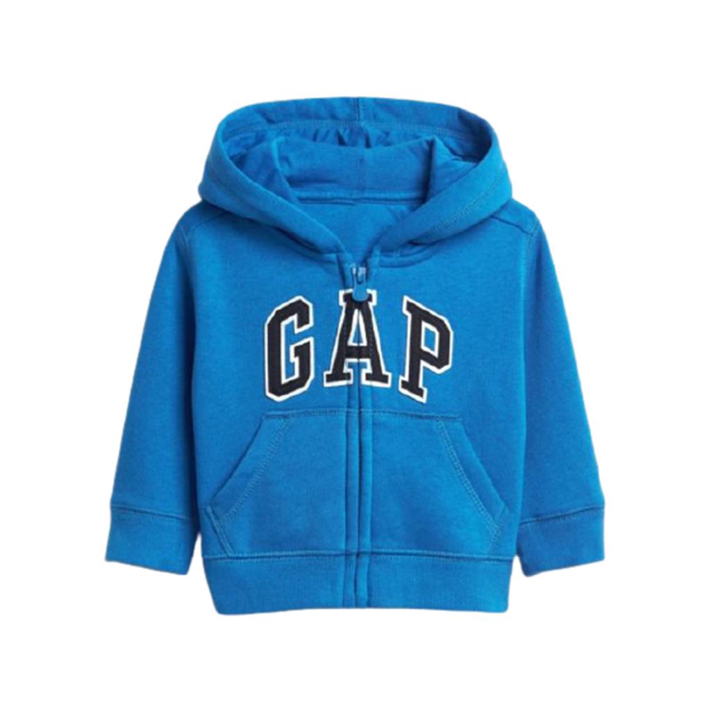 Casaco de moleton Gap azul - 12-18M