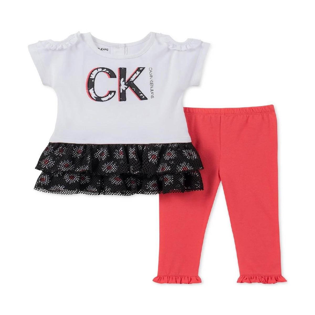 Conjunto 2 Peças Calvin Klein Menina- Tamanho 18 Meses