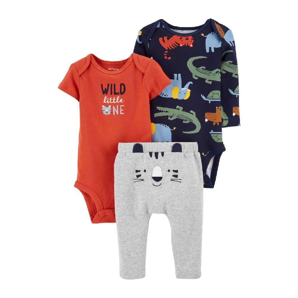 Conjunto Bebê 3 Peças Carter´s Little Tiger/Tam:RN