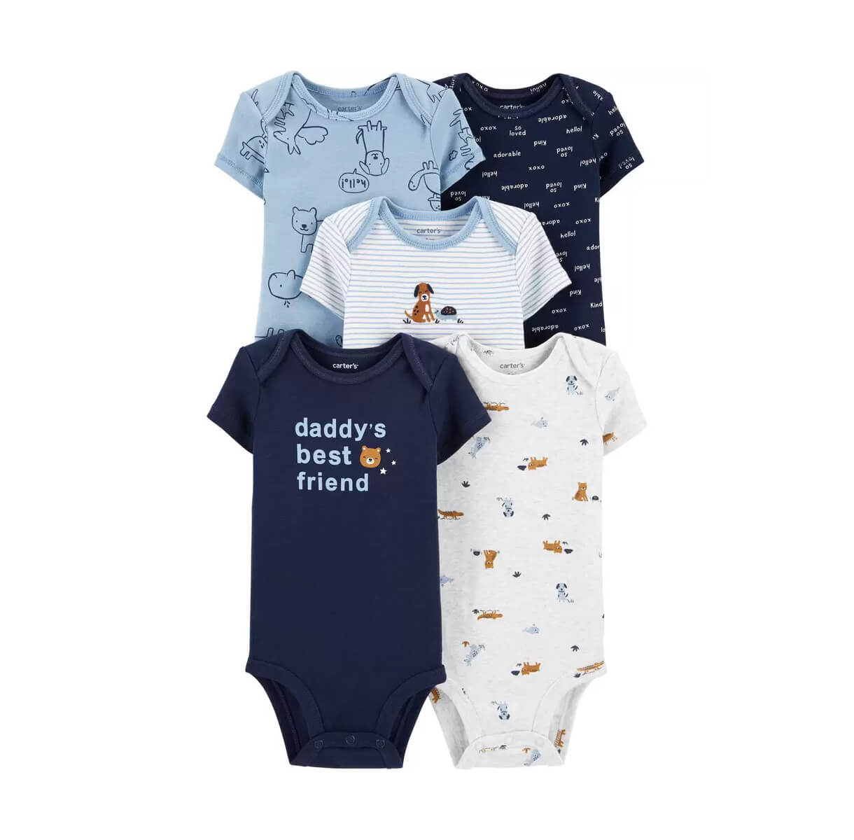Kit 5 Bodies Carters  Floresta dos animais - 6M