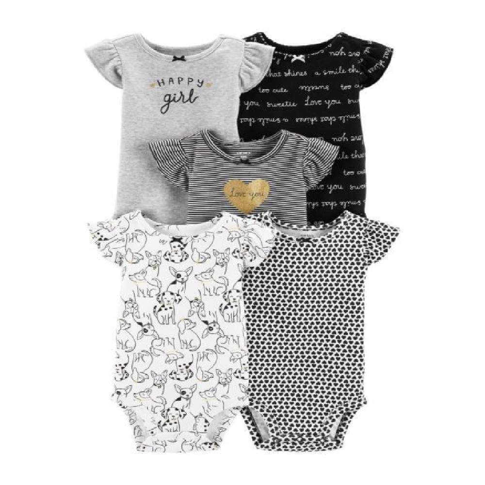 Kit Body 5 Peças Happy Girl Carter´s - 3 Meses