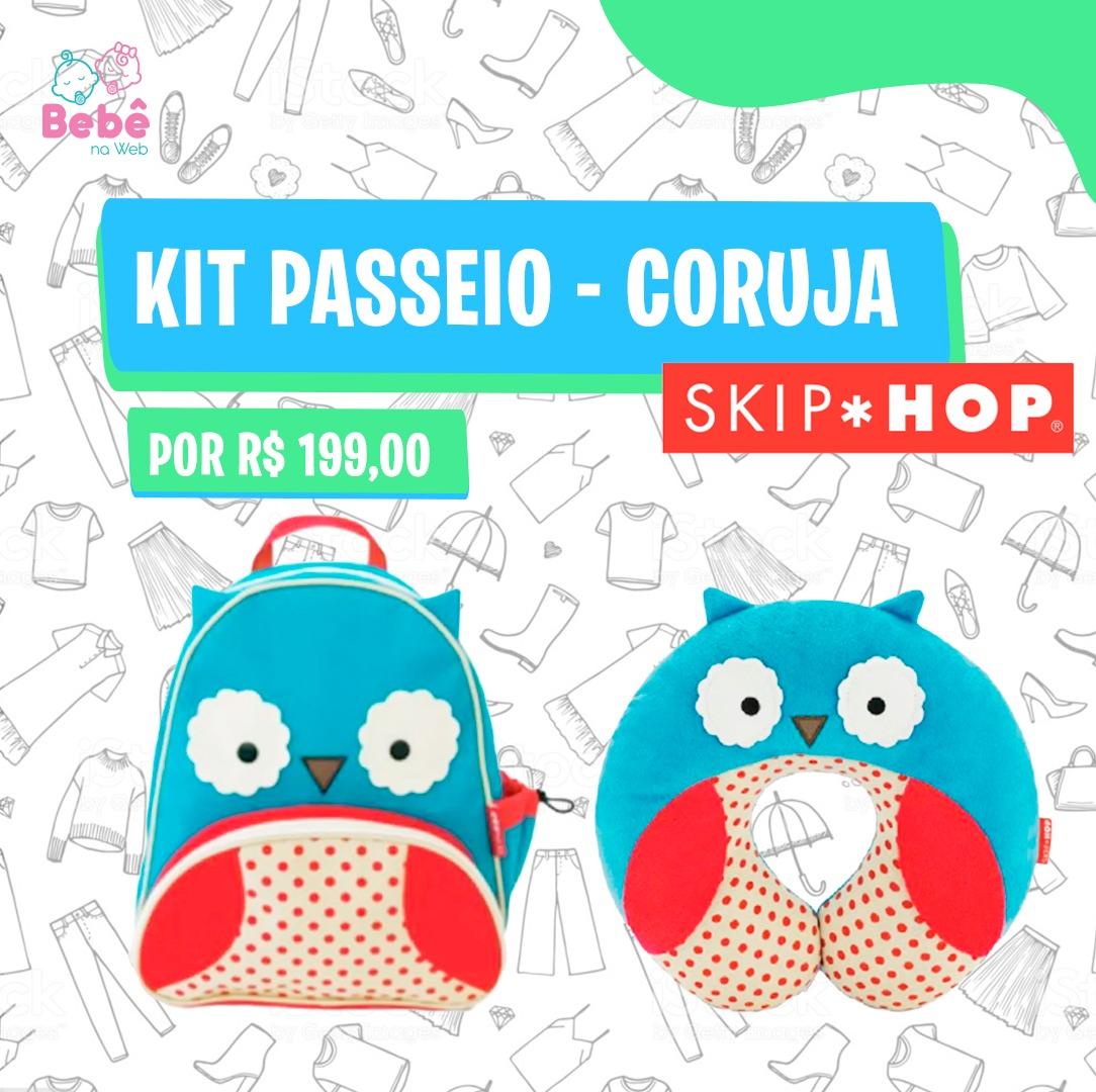 Kit mochila +  protetor de pescoço corujinha/Skip Hop