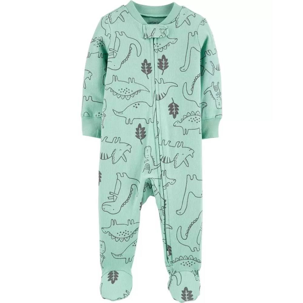 Macacão Verde Claro Dinossauro Para Menino/Tam:6M