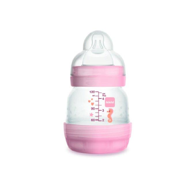 Mamadeira Easy Start MAM - Anticólica - 130ml- Rosa