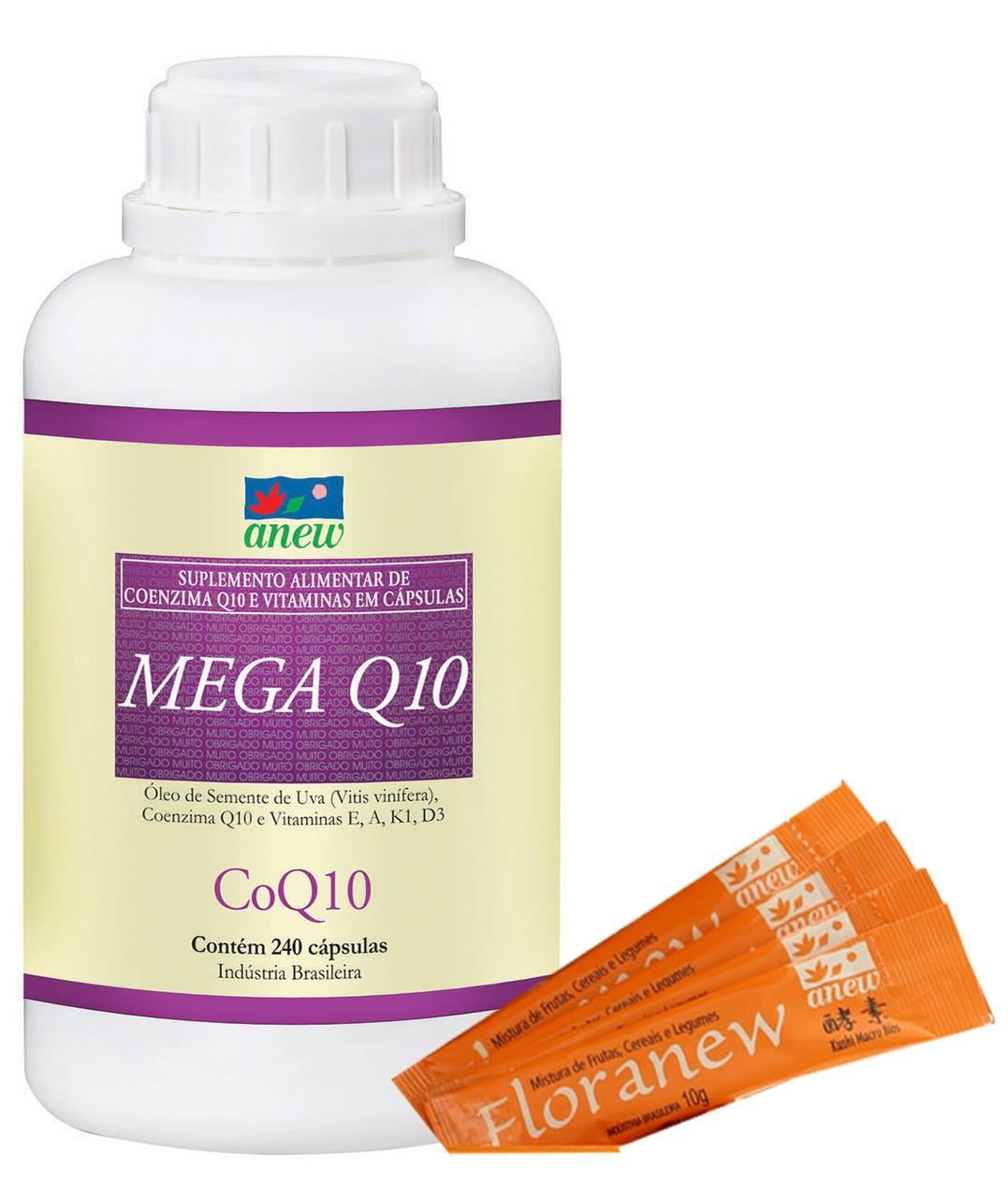 Mega Q10 240 Caps + Floranew (4 Amostras Grátis)